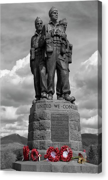 Royal Marines Canvas Print - Commando Memorial_spean Bridge. by Rob Lester