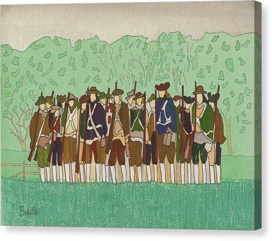 Committeemen On The Green Canvas Print by Robert Boyette