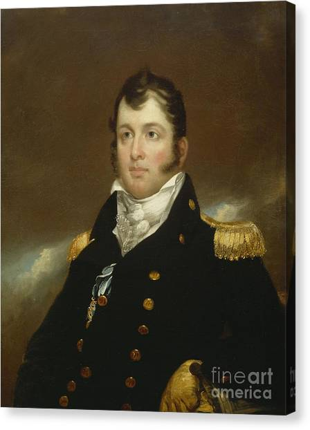 Half-length Canvas Print - Commodore Oliver Hazard Perry by John Wesley Jarvis