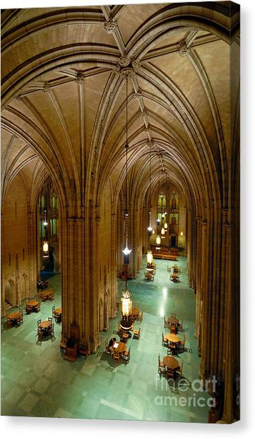 Oakland University Canvas Print - Commons Room Cathedral Of Learning - University Of Pittsburgh by Amy Cicconi