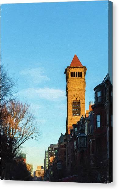 Commonwealth Avenue In Boston Canvas Print