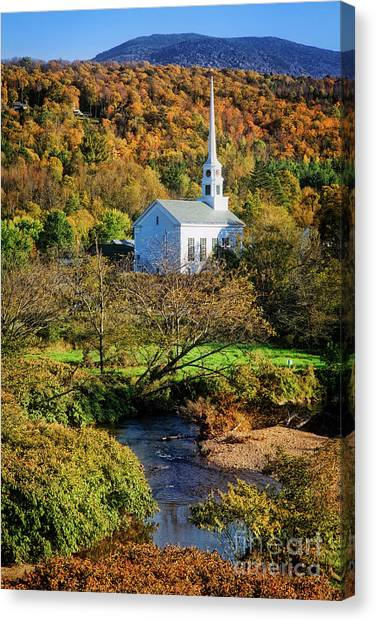 Canvas Print featuring the photograph Community Church by Scott Kemper