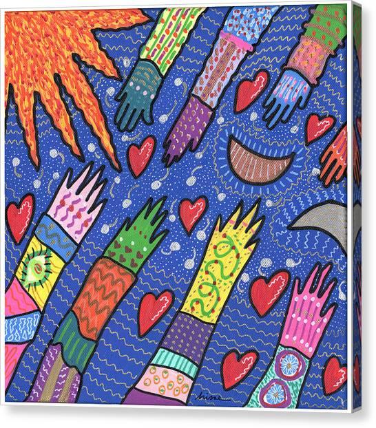 Community Canvas Print by Sharon Nishihara