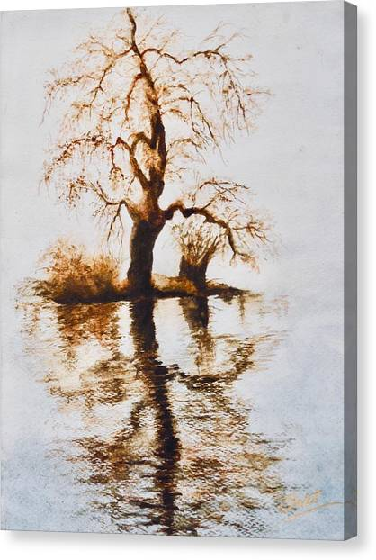 Como Lake Reflections Canvas Print