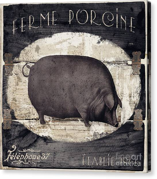 Pig Farms Canvas Print - Compagne II Pig Farm by Mindy Sommers