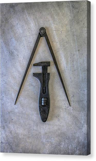 Wrenches Canvas Print - Compass And Wrench by Carlos Caetano