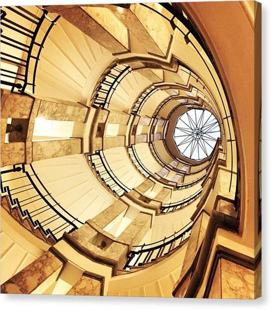 Fibonacci Canvas Print - Compass Penrose #penrose #scala by Alessandro Parca