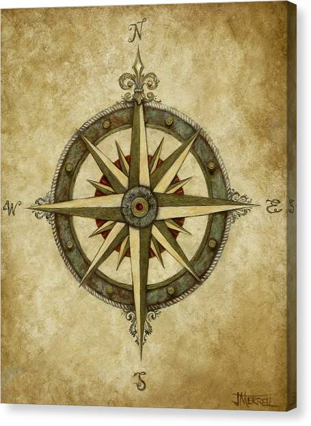 Flower Canvas Print - Compass Rose by Judy Merrell
