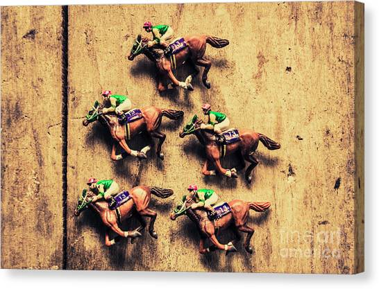Race Horses Canvas Print - Competition Win Concept by Jorgo Photography - Wall Art Gallery