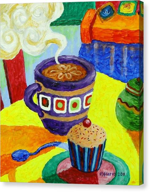 Coffee Shops Canvas Print - Complementary Coffee 1 by Paul Hilario