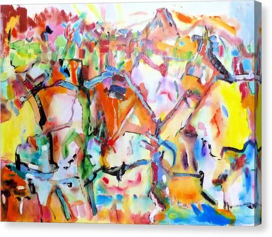 Complicated Landscape Canvas Print