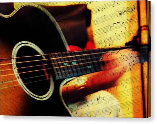 Composing Hallelujah. Music From The Heart  Canvas Print