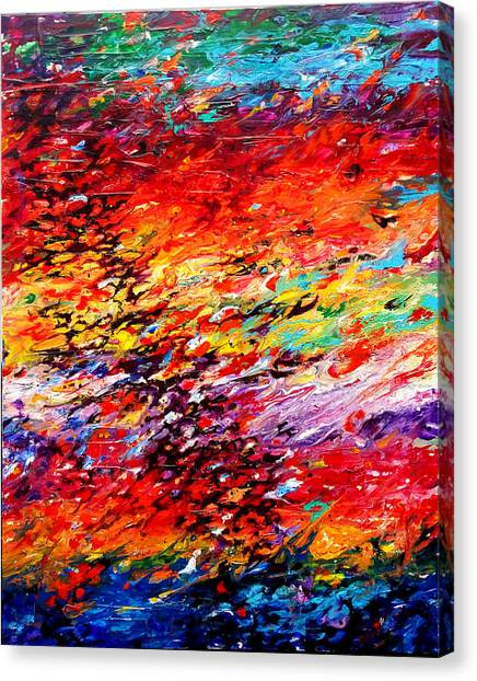Composition # 6. Series Abstract Sunsets Canvas Print