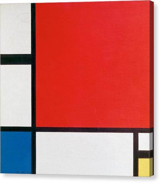 De Stijl Canvas Print - Composition II In Red, Blue, And Yellow - Piet Mondrian by War Is Hell Store