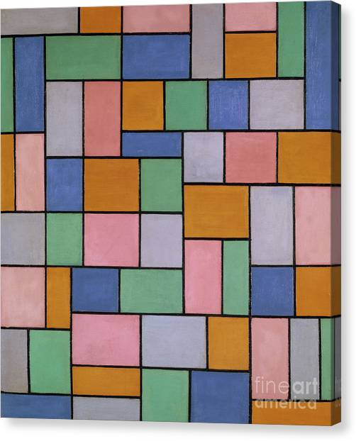 De Stijl Canvas Print - Composition In Dissonances, 1919 by Theo van Doesburg