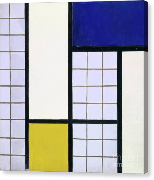 De Stijl Canvas Print - Composition In Half Tones by Theo van Doesburg
