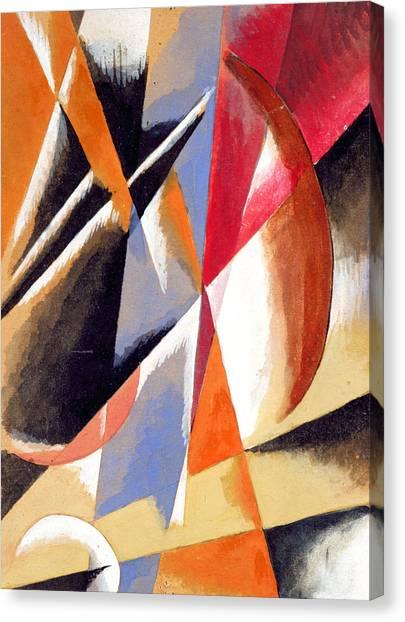 Suprematism Canvas Print - Composition by Lyubov Sergeevna Popova