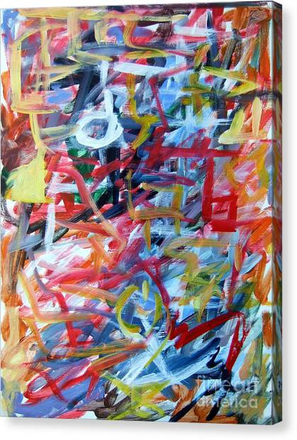 Composition No. 11 Canvas Print by Michael Henderson