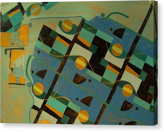 Composition Xxi 07 Canvas Print by Maria Parmo