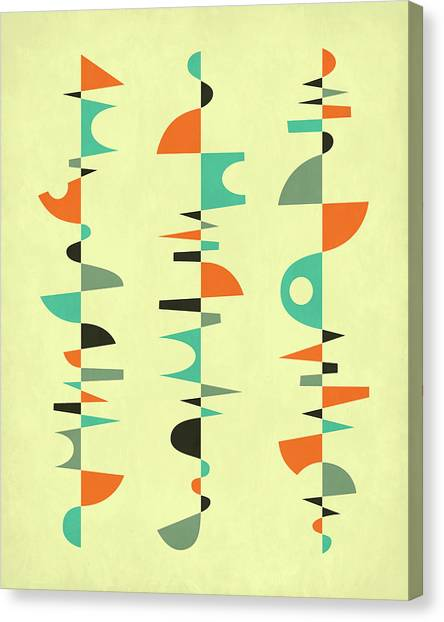 Canadian Artists Canvas Print - Compositions 2 by Jazzberry Blue