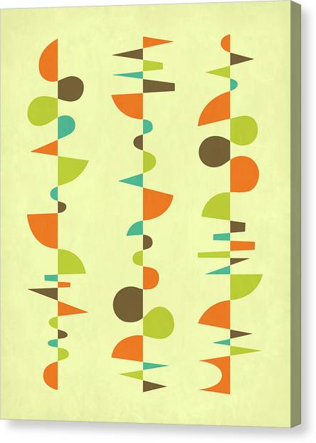 Canadian Artists Canvas Print - Compositions 3 by Jazzberry Blue