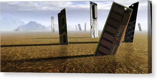 Computer Circuit Board Graveyard Canvas Print by Tim Vernonlth Nhs Trust