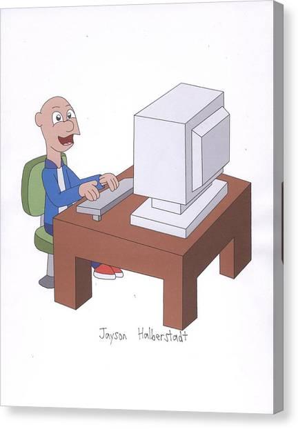 Computer Guy Canvas Print