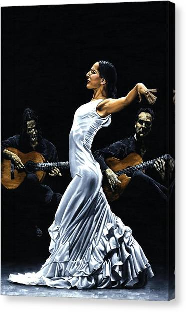 Flamenco Canvas Print - Concentracion Del Funcionamiento Del Flamenco by Richard Young