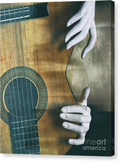 Classical Guitars Canvas Print - Conceputal   by Steven Digman