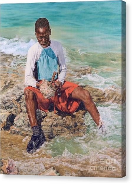 Conch Boy II Canvas Print