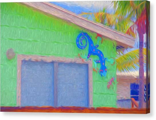 Conch Key Lizard Wall Art Canvas Print