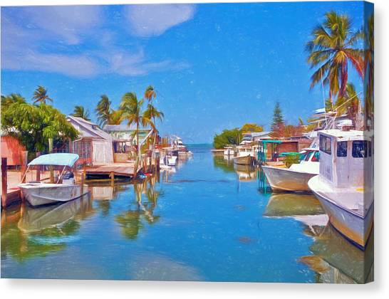 Conch Key Waterfront Living 3 Canvas Print