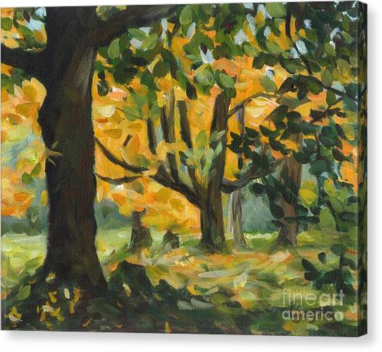 Concord Fall Trees Canvas Print