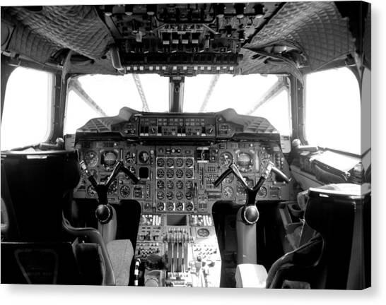 Concorde Cockpit Canvas Print by Patrick  Flynn