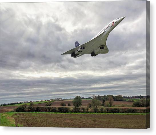 Concorde - High Speed Pass Canvas Print