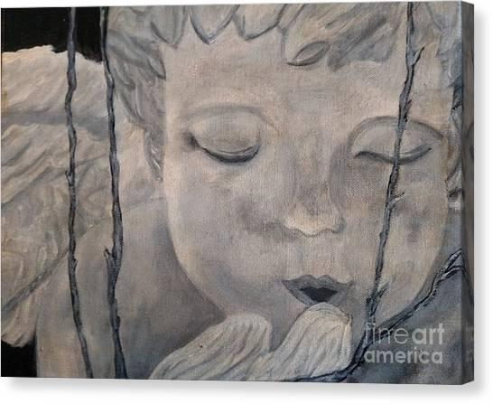 Concret Angel Canvas Print