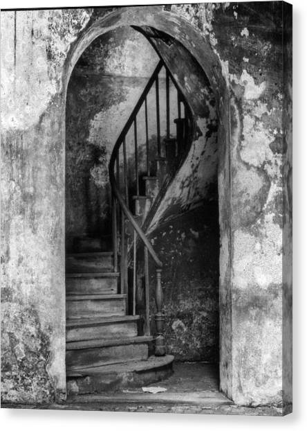 Concrete And Stairwell Canvas Print