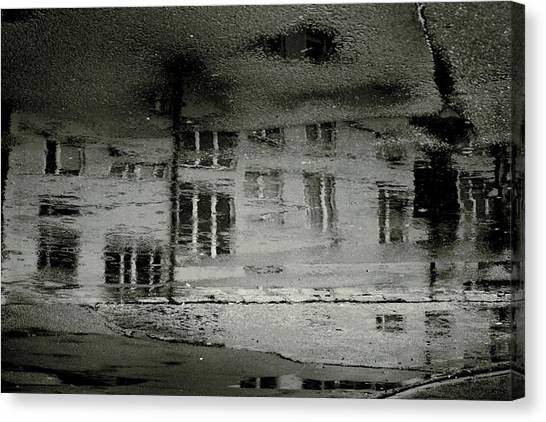 Raining Canvas Print - Concrete City II by Cambion Art