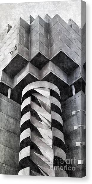 Concrete Geometry Canvas Print