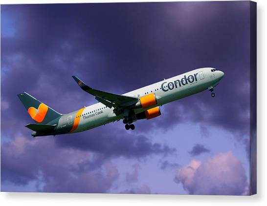 Condors Canvas Print - Condor Boeing 767-3q8 by Smart Aviation