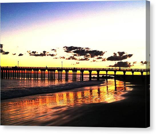 Coney Island Pier Sunset Canvas Print