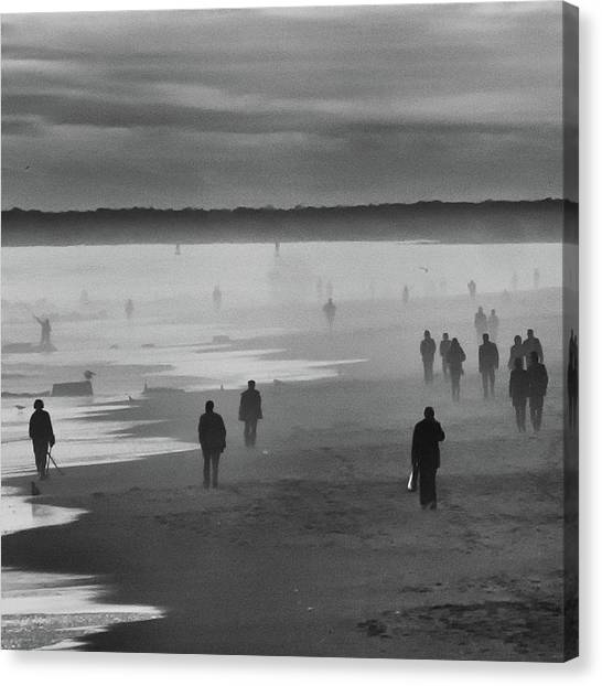 Coney Island Walkers Canvas Print