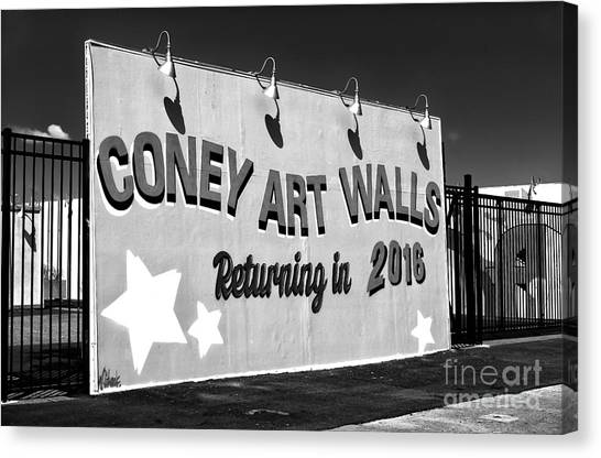 Coney Island Wall Art Returning In 2016 Canvas Print by John Rizzuto