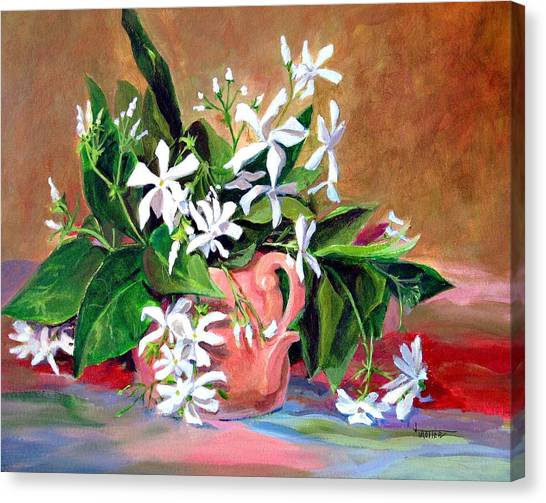 Confederate Jasmine Canvas Print by Jimmie Trotter