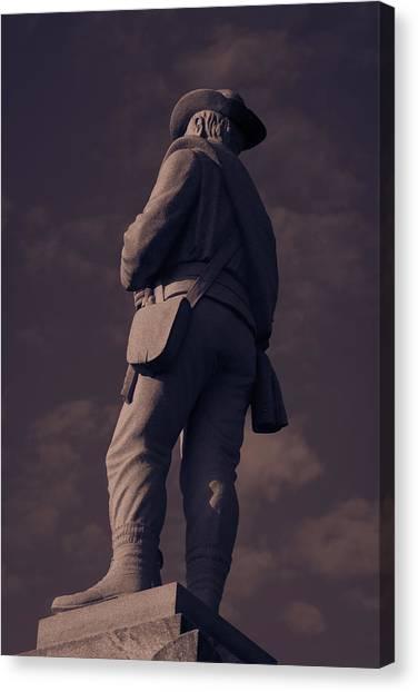 Confederate Statue Canvas Print
