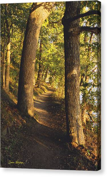 Conference Point Path - Lake Geneva Wisconsin Canvas Print