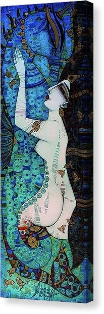 Confessions In Blue Canvas Print