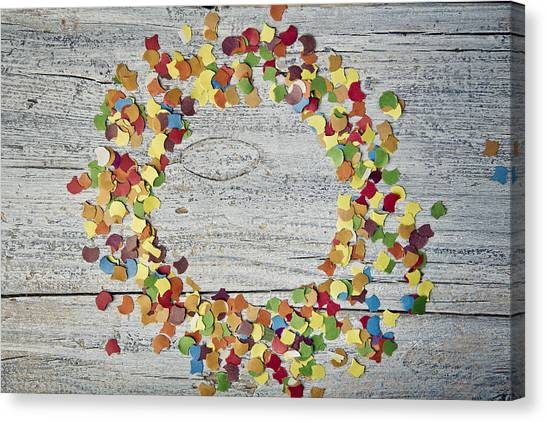 Tables Canvas Print - Confetti Circle by Nailia Schwarz