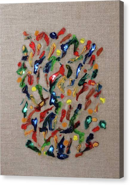 Canvas Print featuring the painting Confetti by Deborah Boyd