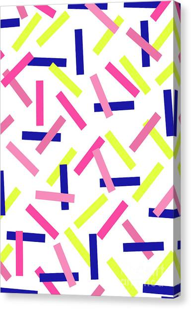 Tetris Canvas Print - Confetti by Louisa Knight